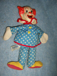 "1962 Knickerbocker 11"" Bozo the Clown, Hand Puppet, Capital Records, Japan"