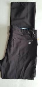 FOOTJOY FJ Men Athletic Lightweight Pleat Golf Pant Trouser - 33x32 Black NEW