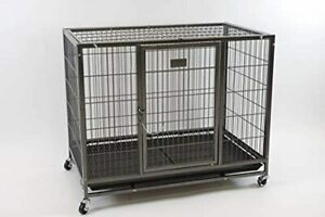 """37"""" Homey Pet Heavy Duty Metal Open Top Cage w/ Floor Grid, Casters and Tray"""