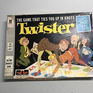 ORIGINAL Vintage 1966 Twister Board Game, Milton Bradley COMPLETE RARE