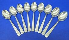 """9 - Wallace CENTENNIAL Glossy 18/10 Korea Stainless Flatware 7 7/8"""" SOUP SPOONS"""
