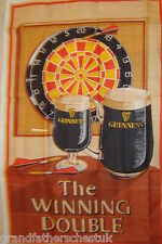 GUINNESS ADVERTISING COLLECTABLES MERCHANDISE GLASS CLOTH TEA TOWEL VERY RARE