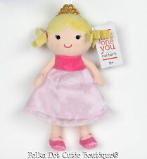 NWT Carter's Just One You Pink Princess Doll Baby Plush Toy