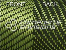 """Reversible Carbon Fiber Made with Kevlar Yellow Fabric 3x1 Twill 50"""" 3k"""