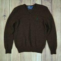 Womens Size Vintage Polo Ralph Lauren Jumper Sweater 100% Lambs Wool Size M