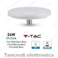 Lampadina led V-TAC 24W = 160W E27 VT-2124 ufo disco alta luminescenza lampada