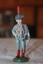 "Vintage Old World Lead Soldier W/ Sword Sachel 99mm High 3 3/4"" X 1 1/4"""