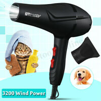 Pet Dog Grooming Hair Dryer Electric Hot & Cold Wind Salon Blue Ray    """"