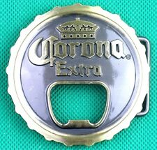 "Belt Buckle ""Corona Extra"" 3.8cm Wide Belt, DIY, Custom Made, MetalCastingOpener"