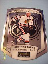 "2016-17 O-Pee-Chee Platinum ""NHL Logo Crest"" Die-Cut # NHLLD-13 Jonathan Toews!"