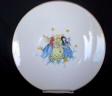 Hutschenreuther Christmas Plate Three Musical Angels Gold Rim 10.5 inch