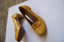 womens veronella yellow tone leather cut out side heels shoes size 38