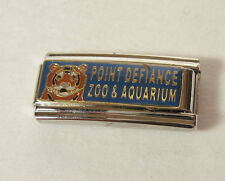 Point Defiance Zoo and Aquarium Italian 1.8mm Bracelet Charm Stainless Steel Red