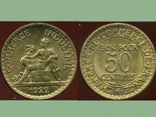 50 centimes  1922  CHAMBRE DE COMMERCE   SUP  ( bis )