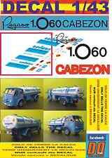 DECAL 1/43 PEGASO Z 206 CABEZON CAMPSA (01)