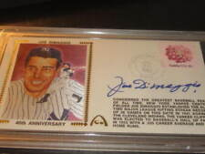 Joe DiMaggio Autographed NY Yankees Baseball Gateway First Day Cover PSA Slabbed