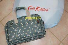Cath Kidston Ladies Teal Spot Dot Button Laptop Case Handbag Work Hand Bag