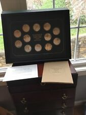 Norman Rockwell's Medallic Tribute to Robert Frost Sterling Silver set
