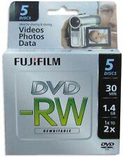 20-Pak FujiFilm 8cm Mini DVD-RW 1.4GB 30-Min in Mini Jewel Case fits Sony/Canon