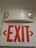HUBBELL LIGHTING - DUAL-LITE LTURWDI-WM  Exit Sign with Emergency Lights Red