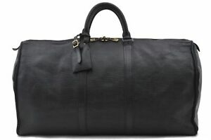 Authentic Louis Vuitton Epi Keepall 50 Boston Bag Black M42952 Junk LV D3980