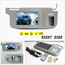 "Right Side 7"" 12V Car Sun Visor Rear View Mirror LCD Monitor For DVD/VCD/GPS/TV"