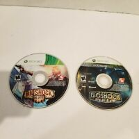 Lot of 2 Xbox 360 Games - Bioshock Platinum Hits & Bioshock Infinite - DISC ONLY