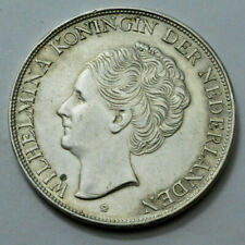 1944 2 1/2GULDEN SILVER Wilhelmina Koningin Der Nederlands COIN MUNT VANCURACAO