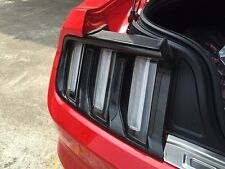 For 2015 Ford Mustang Rear Bumper Tail Light Cover Mouldings Trim Carbon Fiber