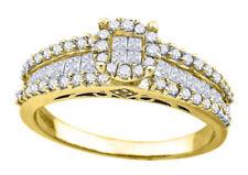Anillos de joyería amarillos de diamante