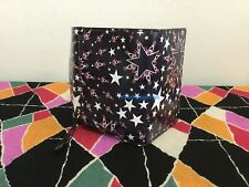 NEW Jimmy Choo Leonie French Men's Women's Wallet Black Leather Multicolor Stars
