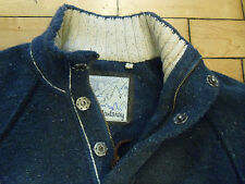 """MANTARAY MENS JUMPER WOOL COTTON THICK CHUNKY S FIT CHEST 37"""" - 39"""" BLUE CREAM"""