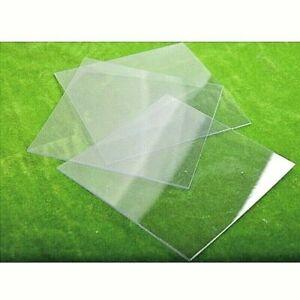 CLEAR PETG SHEET THIN 0.5mm PLASTIC PANEL VISOR FACE SHIELD DOLLS HOUSE PERSPEX