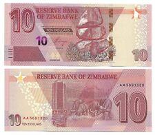 ZIMBABWE 10 DOLLARS, 2020, P-NEW, NEW HYBRID NOTE - AA PREFIX //NEW RELEASE//