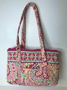 Vera Bradley Capri Melon Print Pink Paisley Shoulder Bag RETIRED