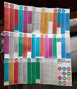 ORIGINAL ICONIC New York Subway Guide 1972 MOMA Design Massimo Vignelli Map NYC