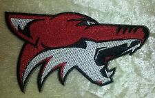 "Phoenix Coyotes NHL Logo 4"" Iron On Embroidered Patch ~USA Seller~"