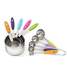 10-piece 18/8 Measuring Cups and Spoons Set, Ejoyous Stainless Steel Kitchen