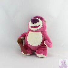15474 - Doudou peluche ours rose Lotso Toys story DISNEY STORE - Security blanke