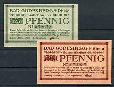 Bad Godesberg 25 + 50 Pfennig Notgeld Verkehrausgabe