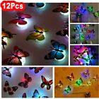 12pack 3d Butterfly Led Wall Stickers Glowing Night Light Bedroom Home Decor Diy