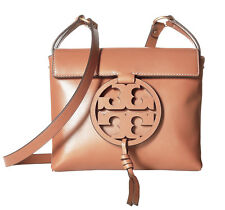 NEW Tory Burch Miller Crossbody Bag Leather Tan Camello Brown