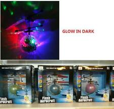 GLOW IN THE DARK HAND CONTROL SENSOR FLYING BALL HELICOPTER / AERO COPTER TOY