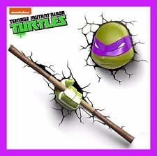 3D FX LED WALL DECO LIGHT-TEENAGE MUTANT TURTLES (TMNT) DONATELLO FACE & WEAPON
