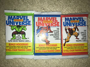 1991 Marvel Universe Cards 2nd Series ( 3 )Sealed Packs NEW
