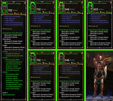 Diablo 3 RoS Ps4 - Bundle - 4x Ancient Modded Sets for Demon Hunter - Softcore
