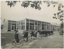 Italia, Biella, nuova scuole Silvio Cerutti 1963  Vintage silver print Tirage