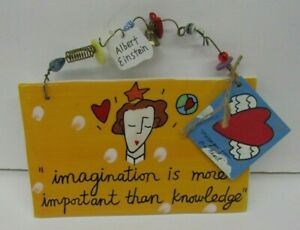 "Sandra Magsamen Silvestri ""Imagination Is More Important Than Knowledge"" Sign"