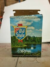 Old Style Wisconsin 12 bottom opened cans bar display movie props
