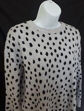 H&M Cheetah Animal Print Crewneck Knit Sweater Top Blouse Medium
